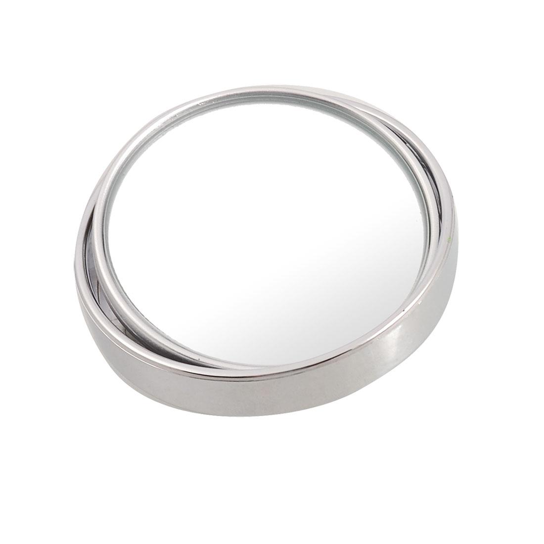 "Silver Tone 50mm 2"" Round Convex Blind Spot Mirror for Car Auto"