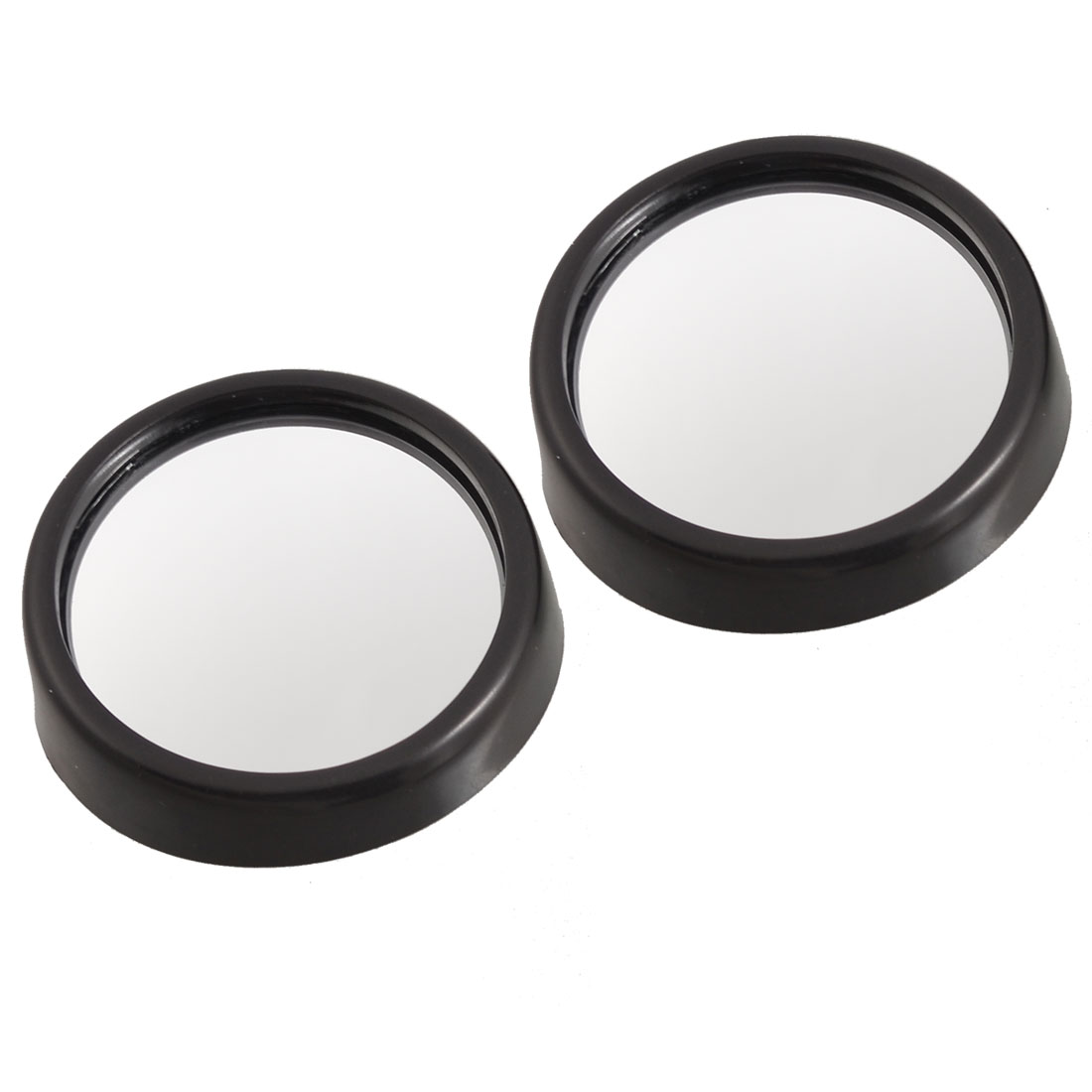 Car Black 45mm Round Wide Angle Rearview Blind Spot Mirror 2 Pcs