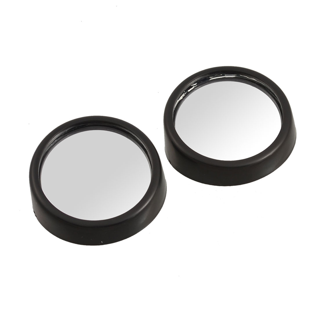 Car Black 40mm Round Rearview Blind Spot Mirror 2 Pcs