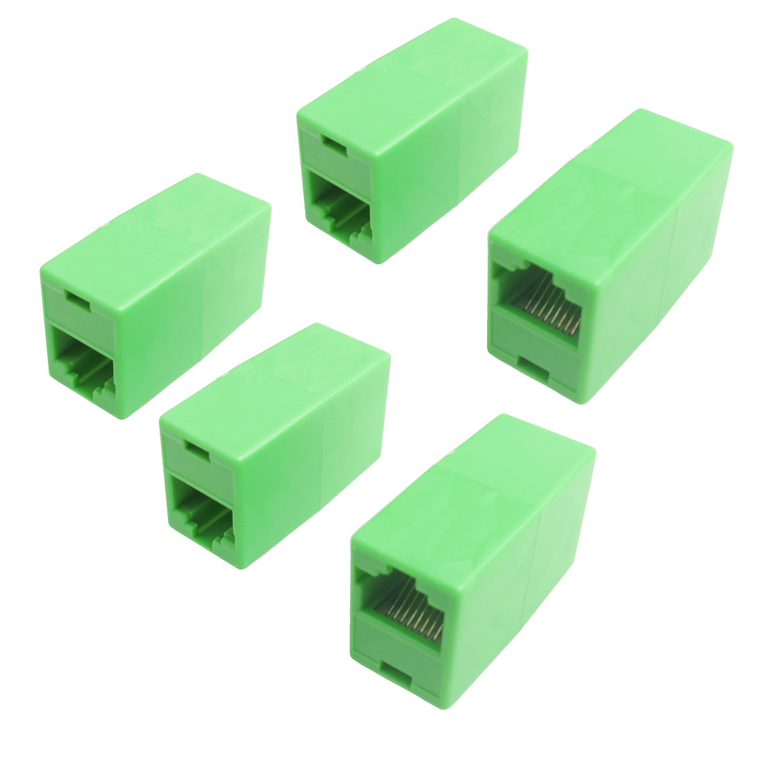RJ45 Modular Network F/F Inline Coupler Connector 5 Pcs
