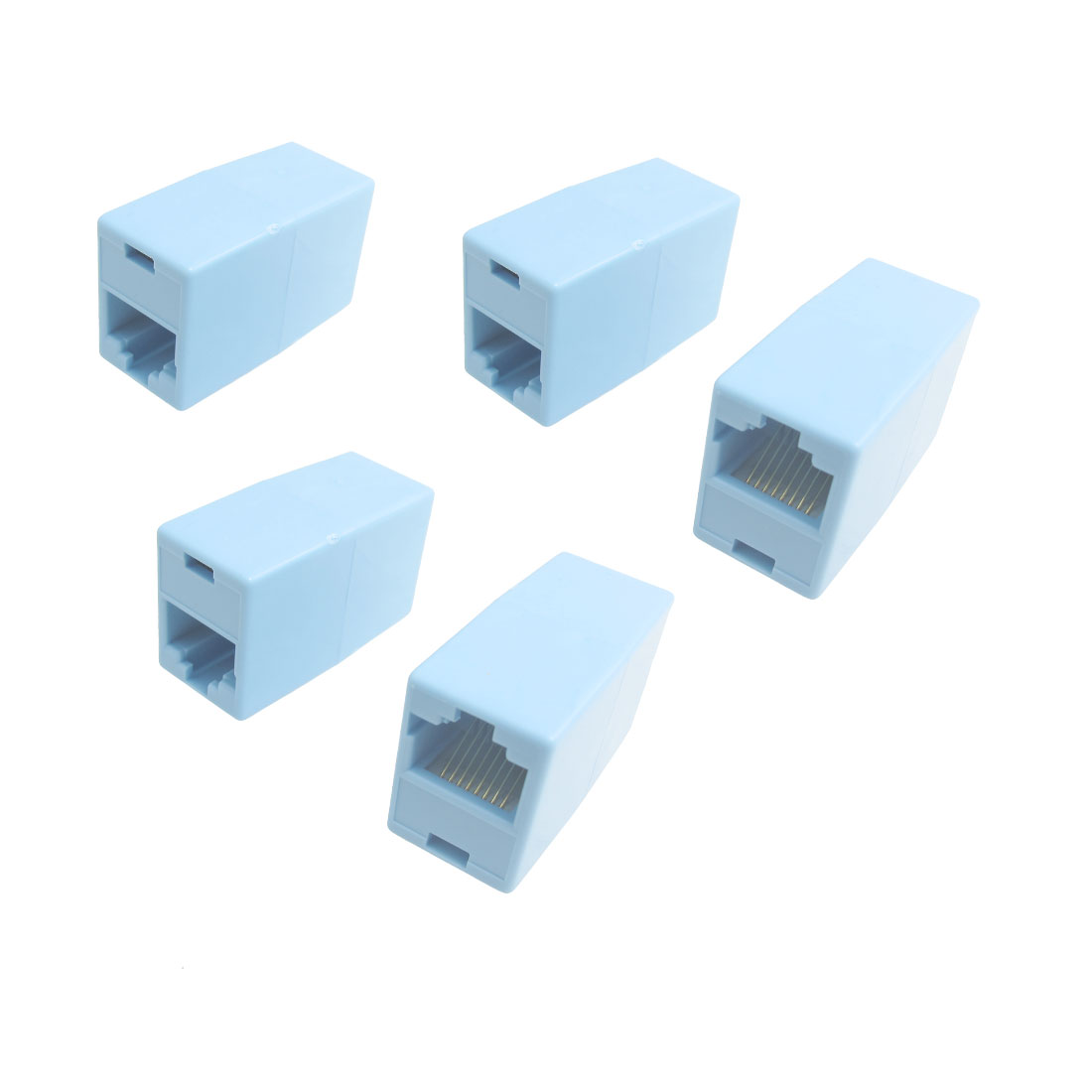 5 Pcs RJ45 F/F LAN Network Inline Splitter Connector