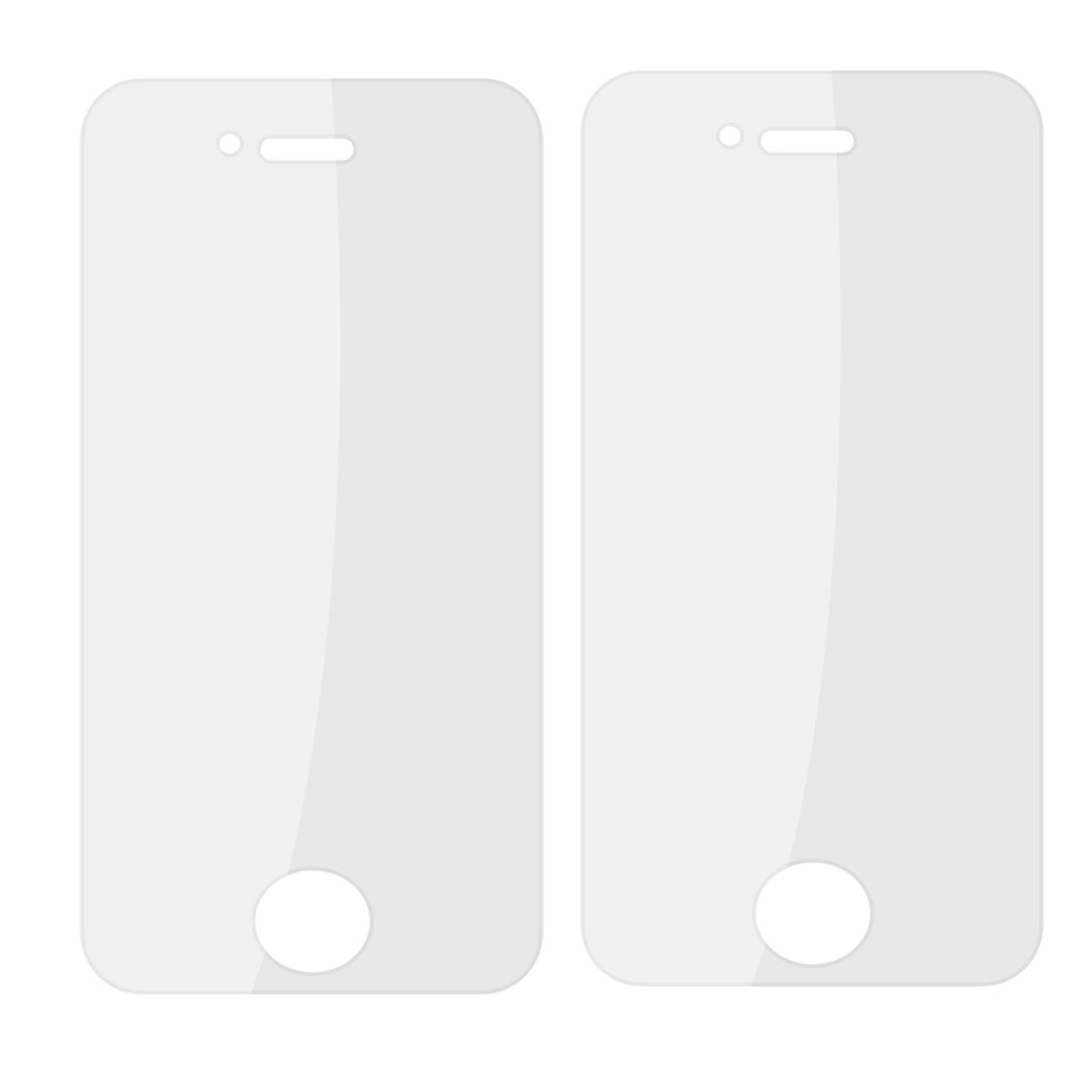 2 Pcs Protective Clear Plastic Screen Guard Film for iPhone 4 4G