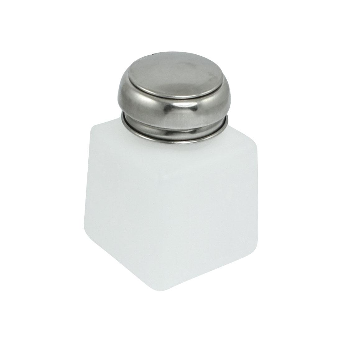 Metal Cap Liquid Container Alcohol Bottle 120ml White