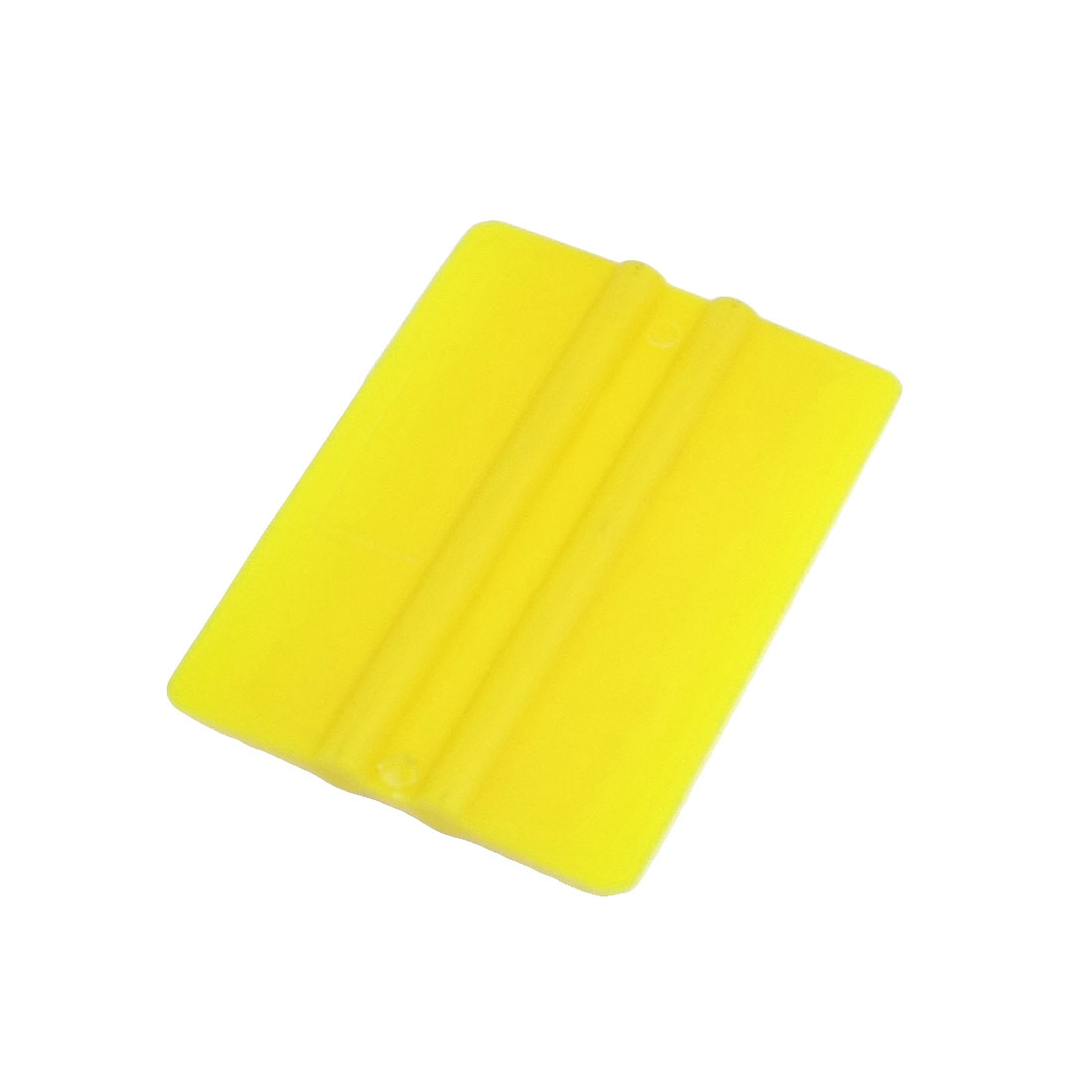 Car Auto Yellow Rectangle Plastic Window Glass Cleaning Scraper Blade