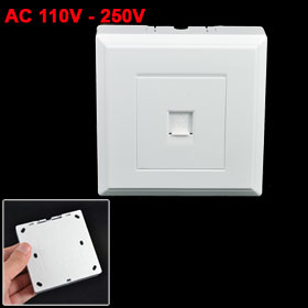 Single Gang RJ11 6P2C Telephone Phone Outlet Socket Wall Panel Face Plate White