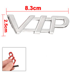 Car Auto Silver Tone 3D VIP Letters Badge Emblem Sticker