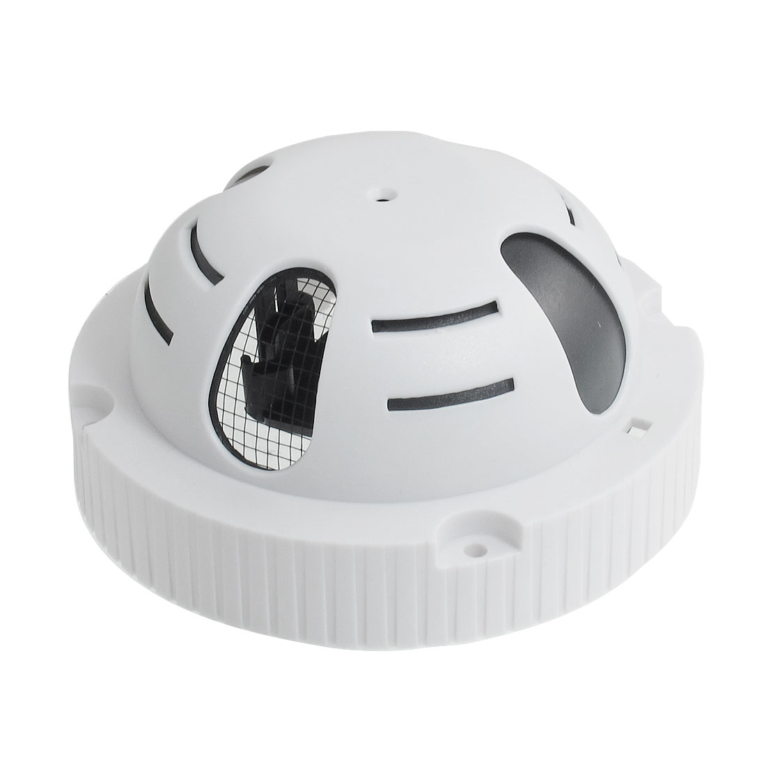 Indoor Wall CCD Dome Camera Meshy Housing Case White