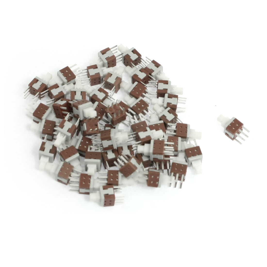 50 Pcs Latching Contat Torch Mini Push Button Switches 5.8mm x 5.8mm
