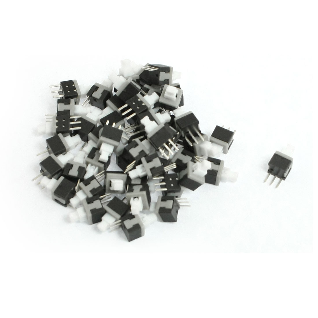 50 Pcs Latching Contat Type Mini Push Button Switches 5.8mm x 5.8mm