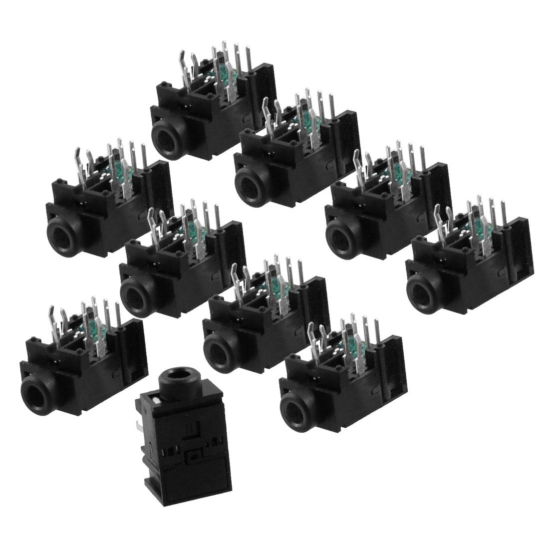10 x 11 Pins PCB Female 3.5mm Stereo Headphone Jack Socket Connector