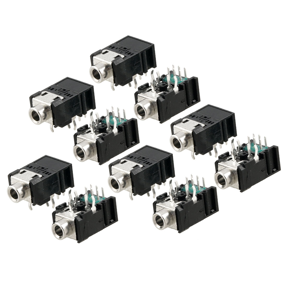10 Pcs DIP PCB Mount 11 Pins Female 3.5mm Stereo Audio Jack Socket