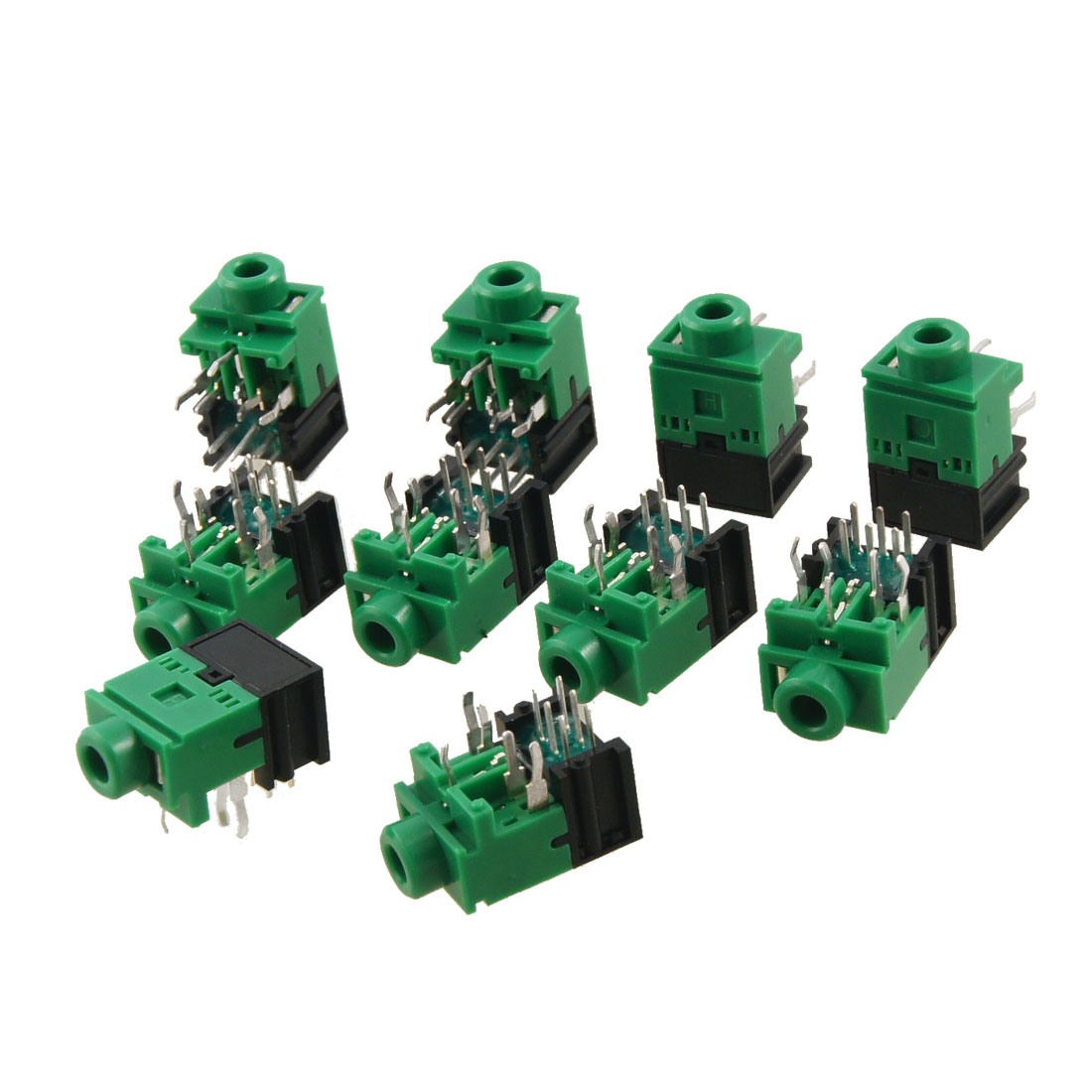 10 Pcs 11 Pin PCB Mount Female 3.5mm Stereo Jack Socket Connector