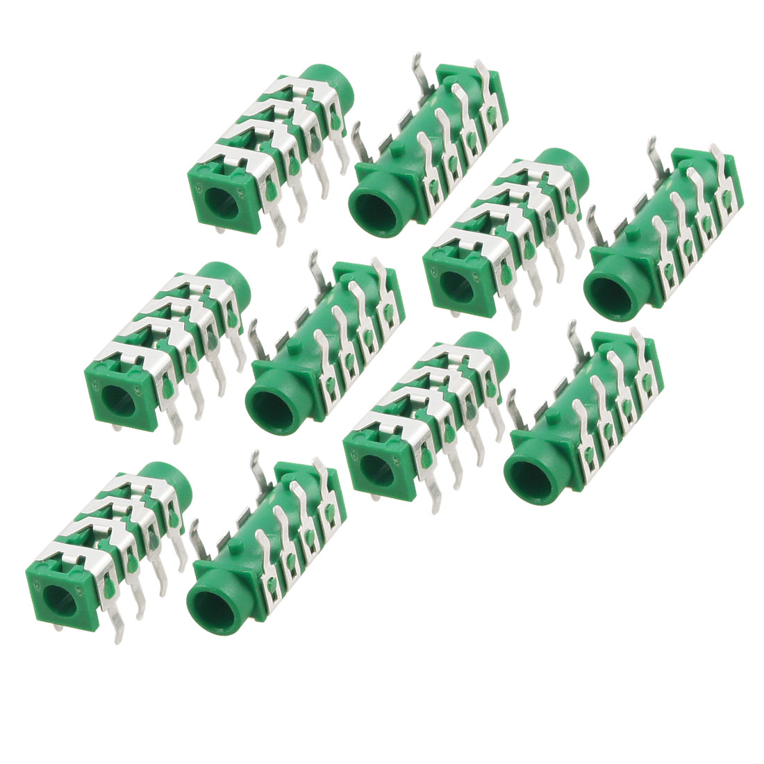 10 Pcs Right Angle DIP PCB 3.5mm Headphone Jacks Audio Connectors