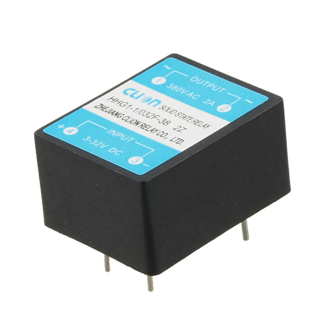 HHG1-1/032F-38 2Z Input 3-32V DC Output 2A 380V AC PCB Solid State Relay