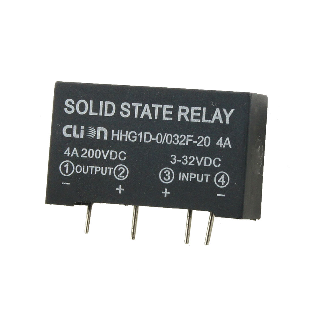 Input 3-32V DC Output 4A 200V DC 4 Pin PCB Solid State Relay HHG1D-0/032F-20