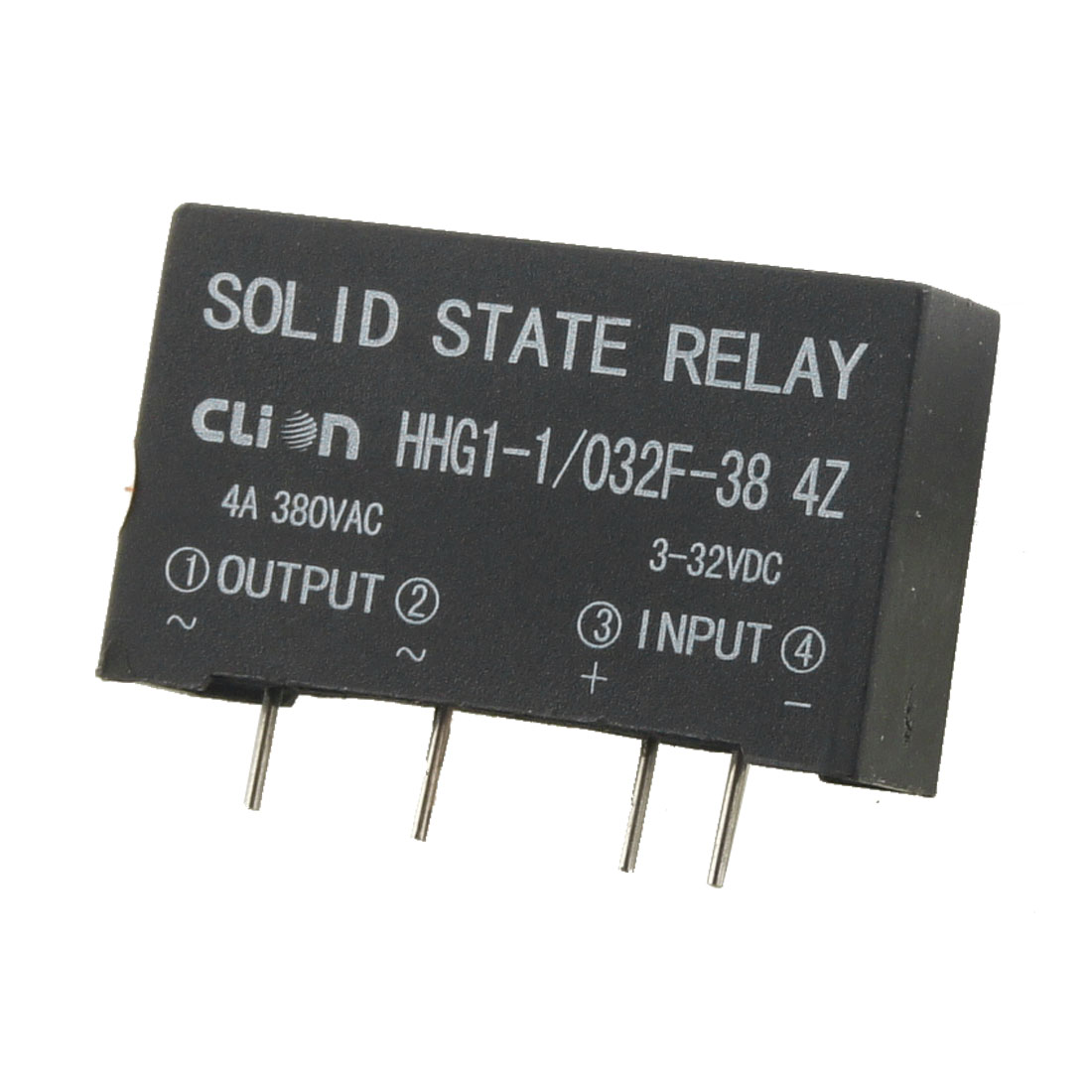 HHG1-1/032F-38 4Z in 3-32V DC Out 380V AC 4A PCB Solid State Relay