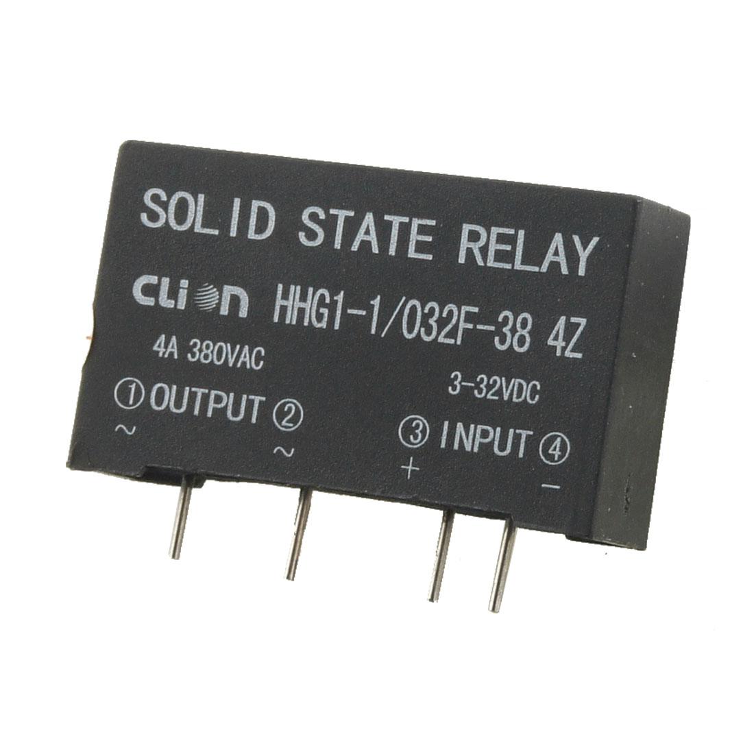 HHG1-1/032F-38 4Z in 3-32V DC Out 380V AC 4A PCB Solid State Relay