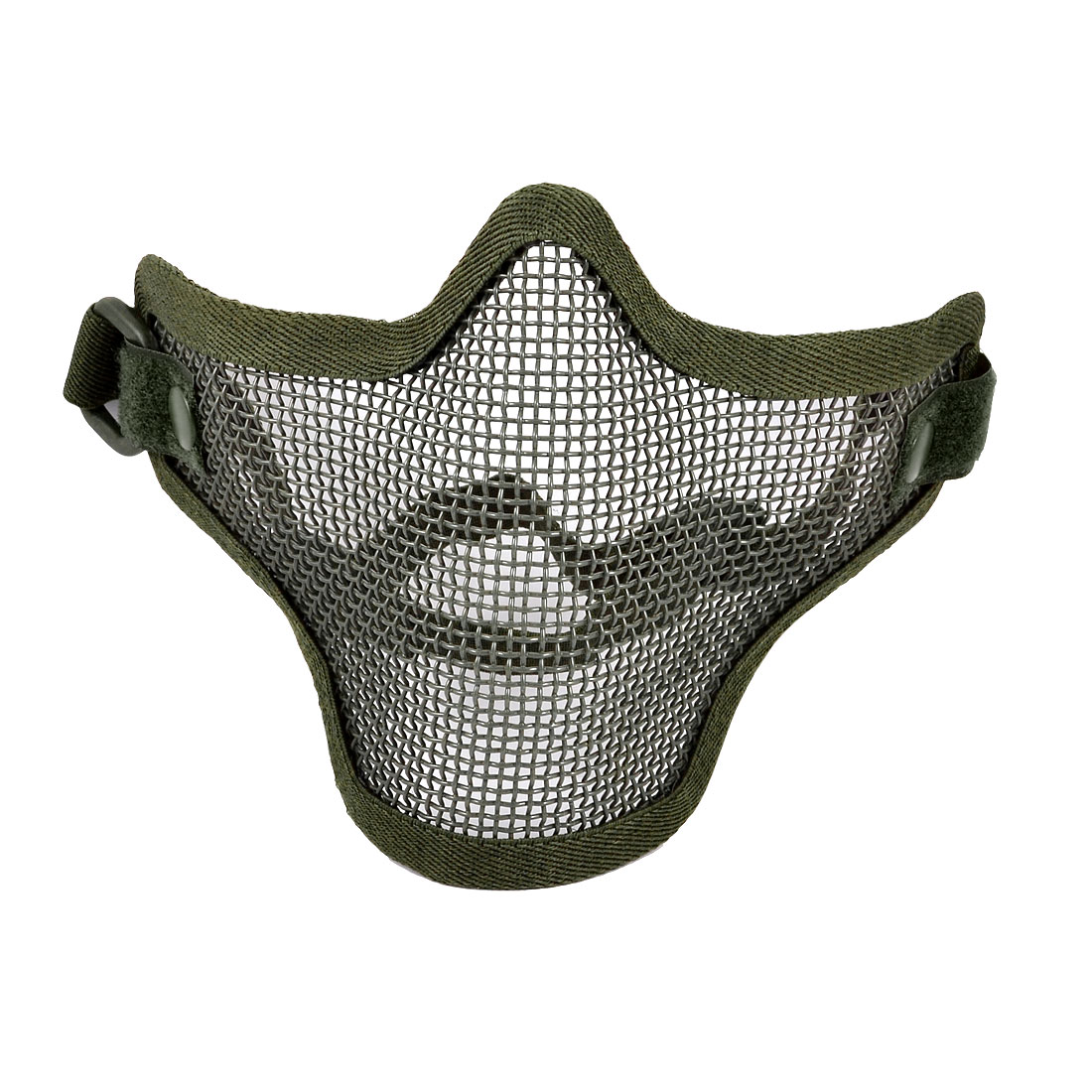 Airsoft War Game Half Face Guard Mesh Mask Protector Olive Green