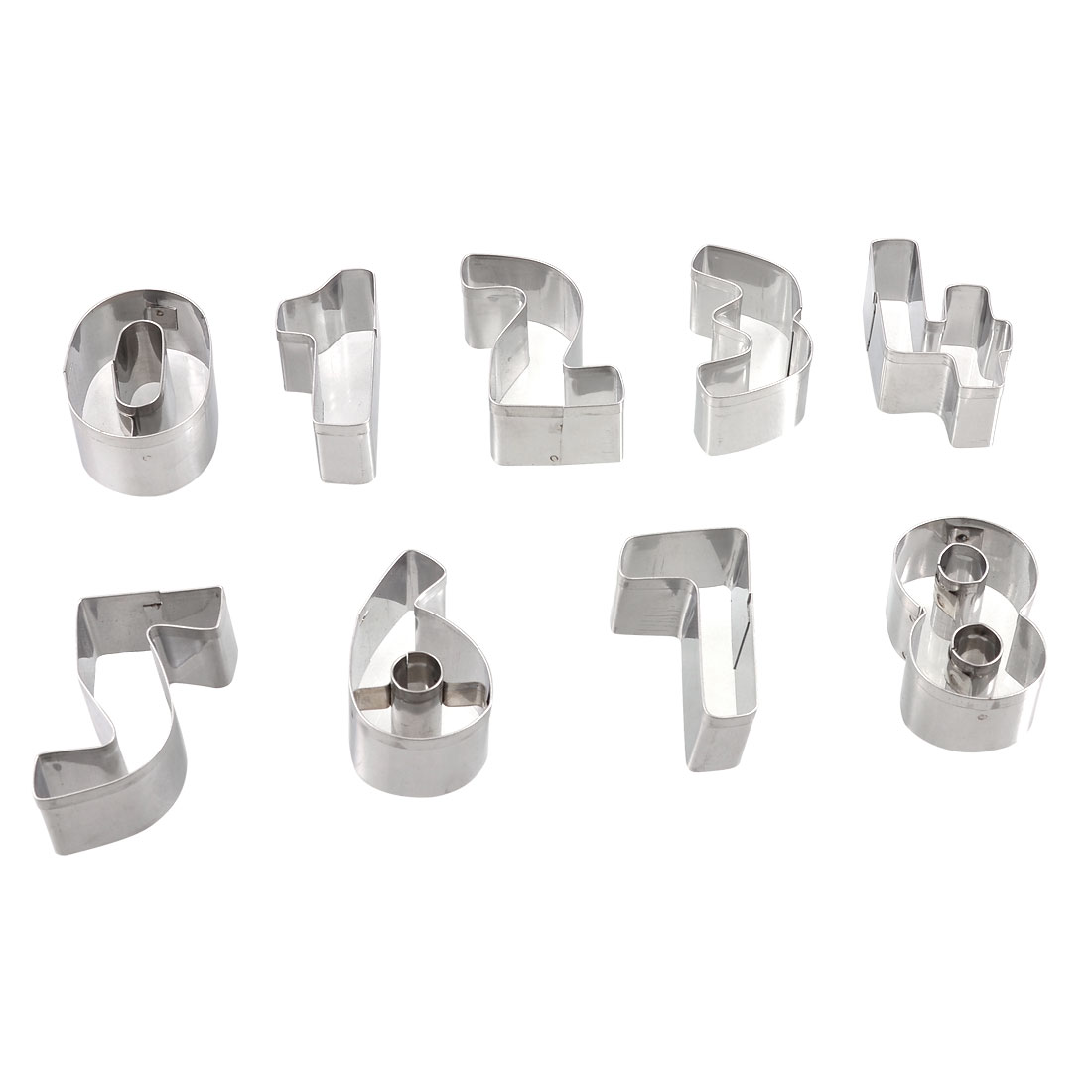 9 Pcs Arabic Numbers Metal Cake Biscuit Cookie Cutters Molds w Storage Case