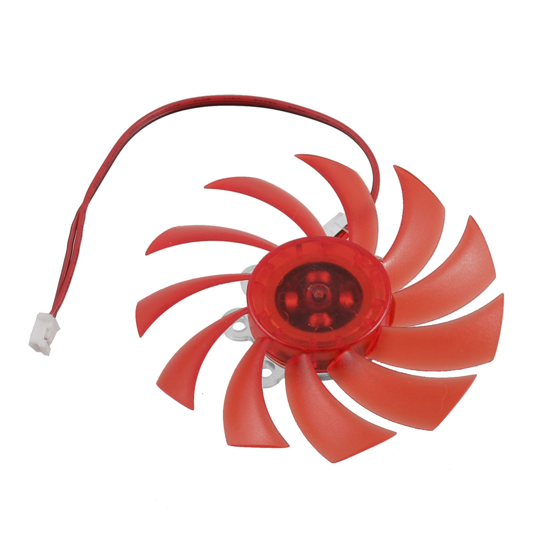 2 Pole Connector 11 Flabellums Plastic PC Video Card Heatsink Cooling Cooler Fan Red