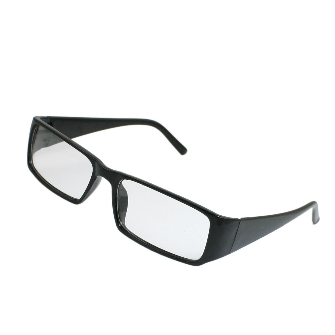 Men Women Black Clear Plastic Frame Full Rims Clear Lens Plain Glasses