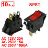 10 Pcs Red Indicator Light 3 Pin SPST ON OFF Rocker Boat Switches