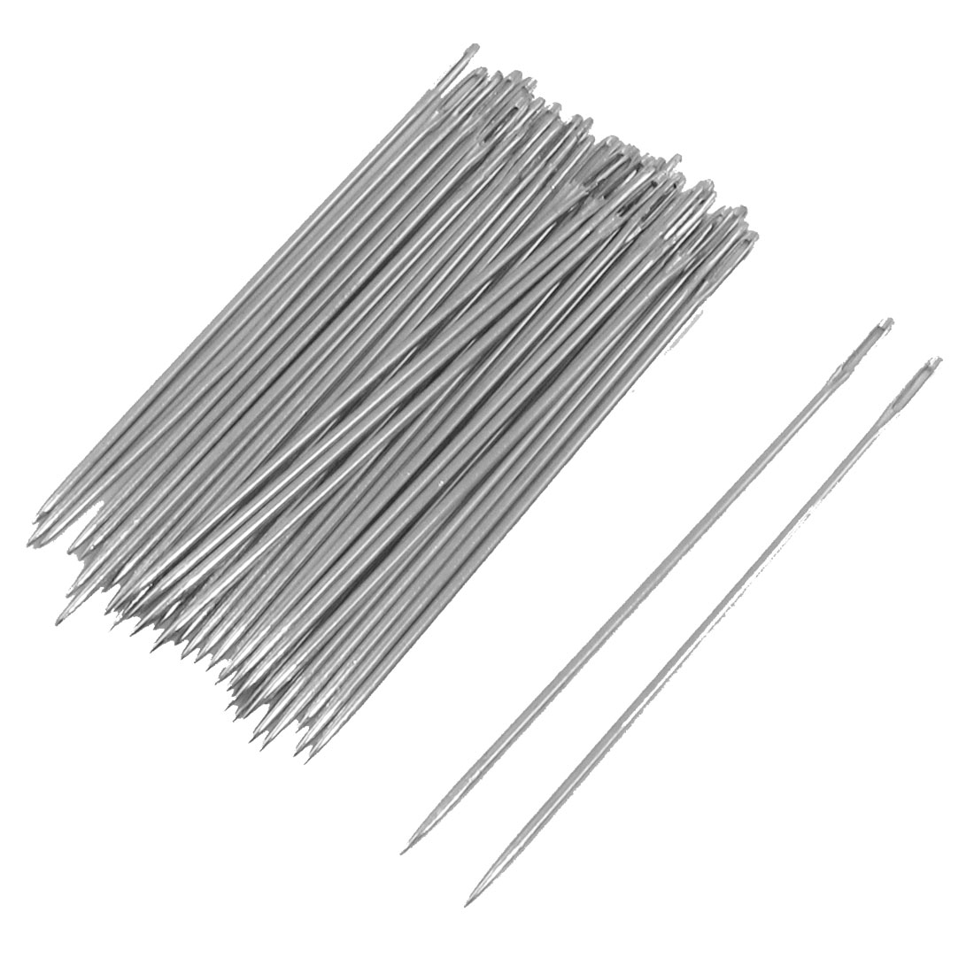 Home 40 Pcs 0.5mm Dia Sharp Tip Metal Sewing Needles