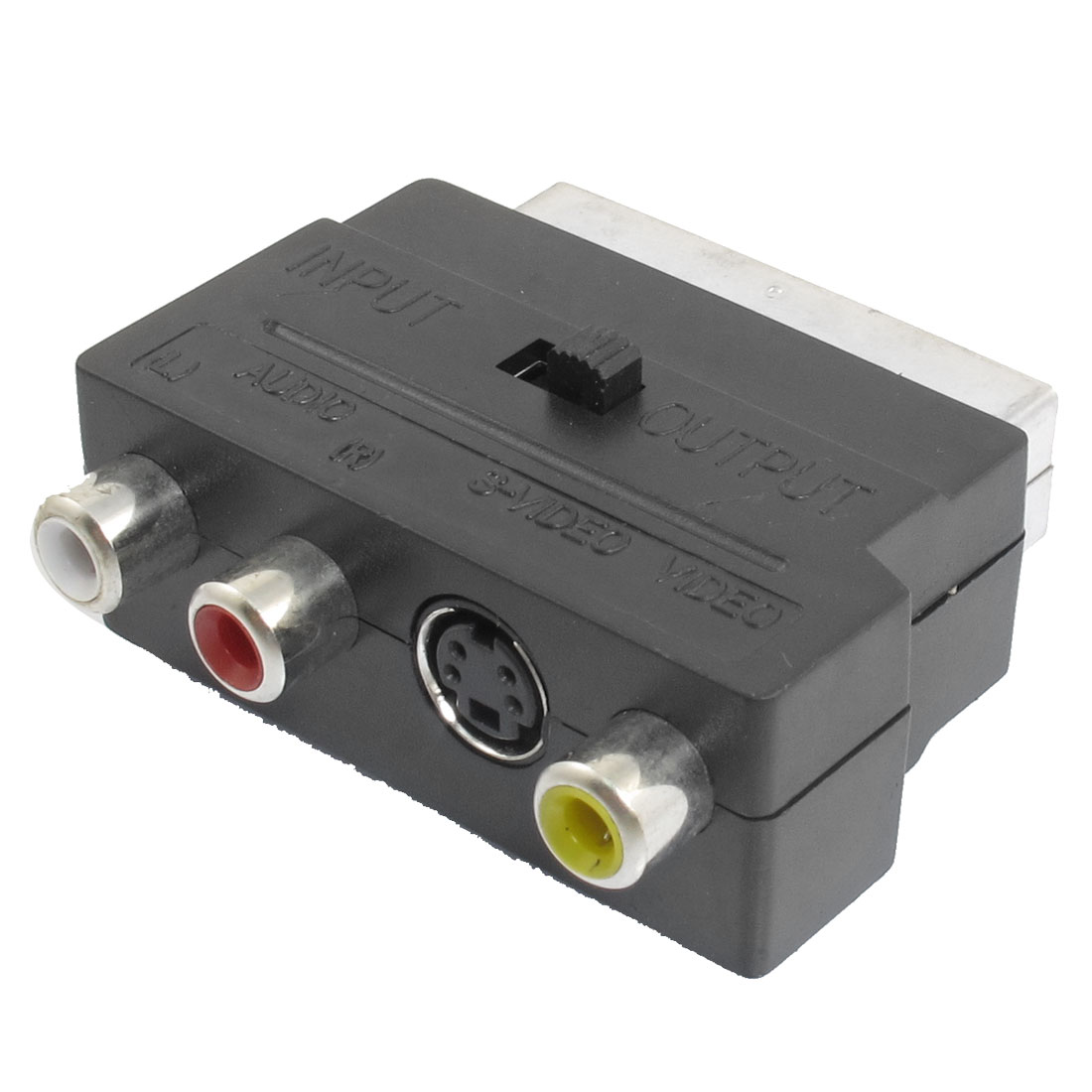 Scart 20 Pin Male to 3 RCA AV Female Adapter Connector