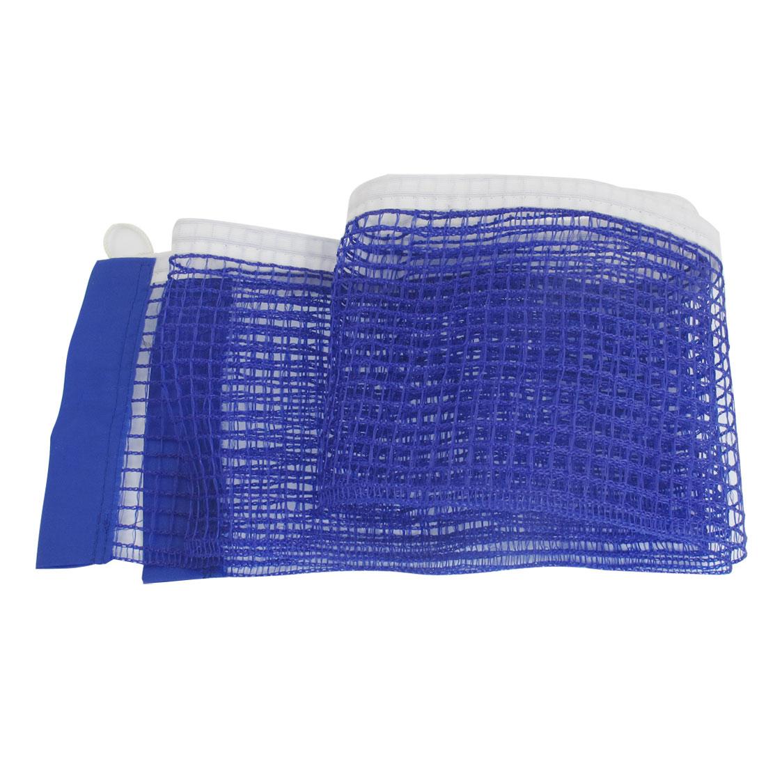 Nylon Replacement Table Pingpong Sports Tennis Mesh Net w Pull String Blue