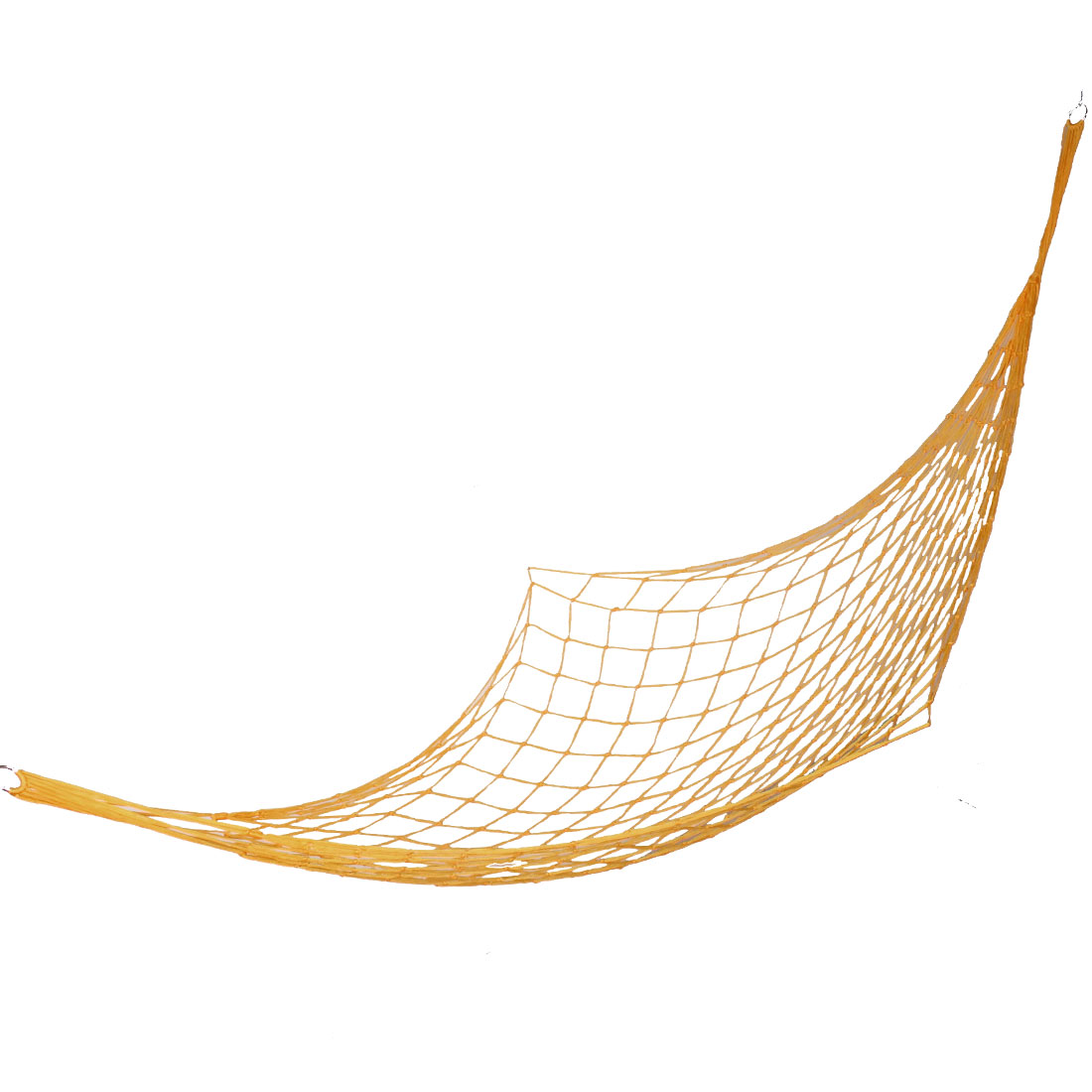 Orange Nylon Metal Hook Ends String Net Hammock Hang Bed for Traveling