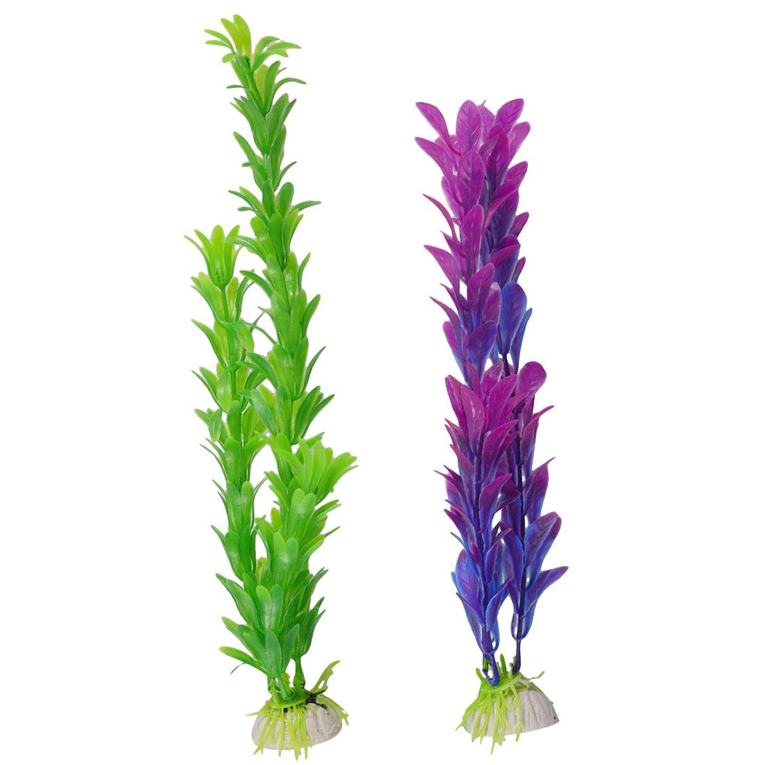 Fish Tank Aquarium Decor Emulational Upright Aquatic Grasses 2 Pcs