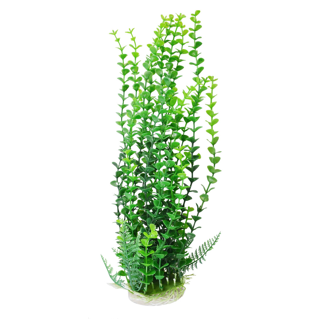 "15.2"" Height Ceramic Base Emulational Plastic Aquarium Plant Green"