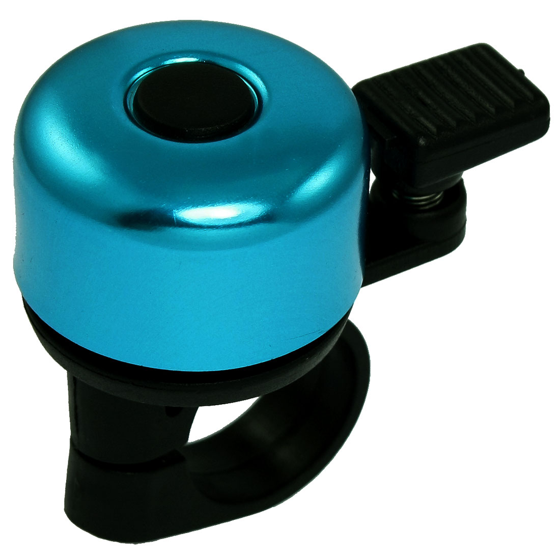 Black Plastic Bike Handlebar Clamp Blue Round Top Bicycle Bell Ring
