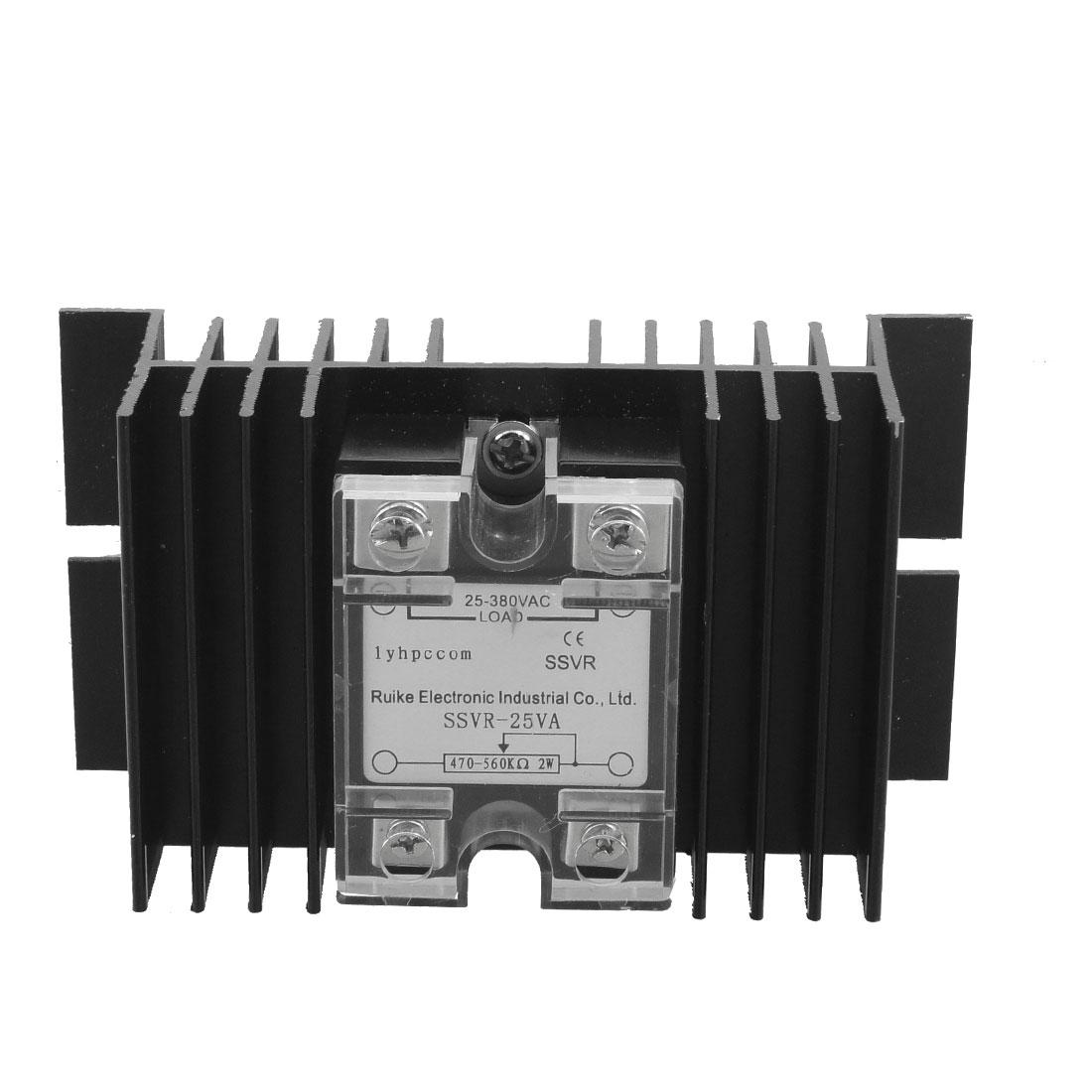 Solid State Relay Voltage Resistance Regulator SSR 25A 25-380V AC + Heat Sink