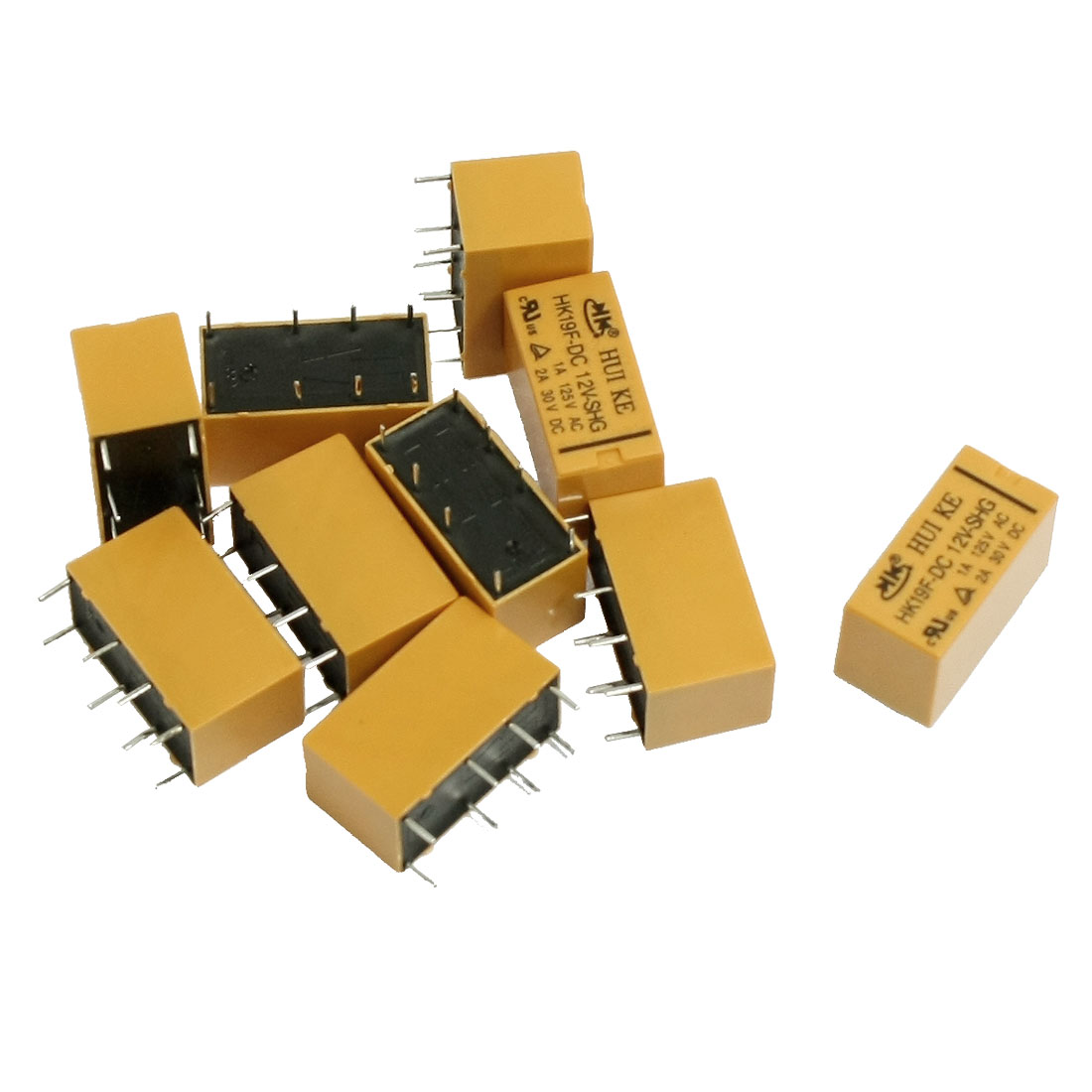 10 Pcs DC 12V Coil DPDT 8 Pin PCB General Purpose Power Relay HK19F
