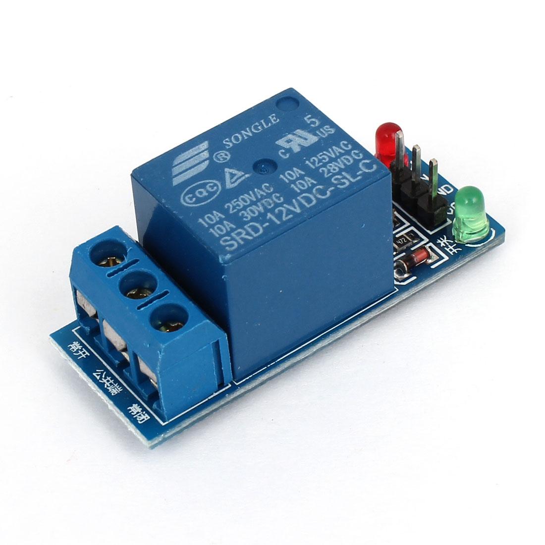 Blue SRD-12VDC-SL-C 1 Channel Coil DC 12V High Level Power Relay Module