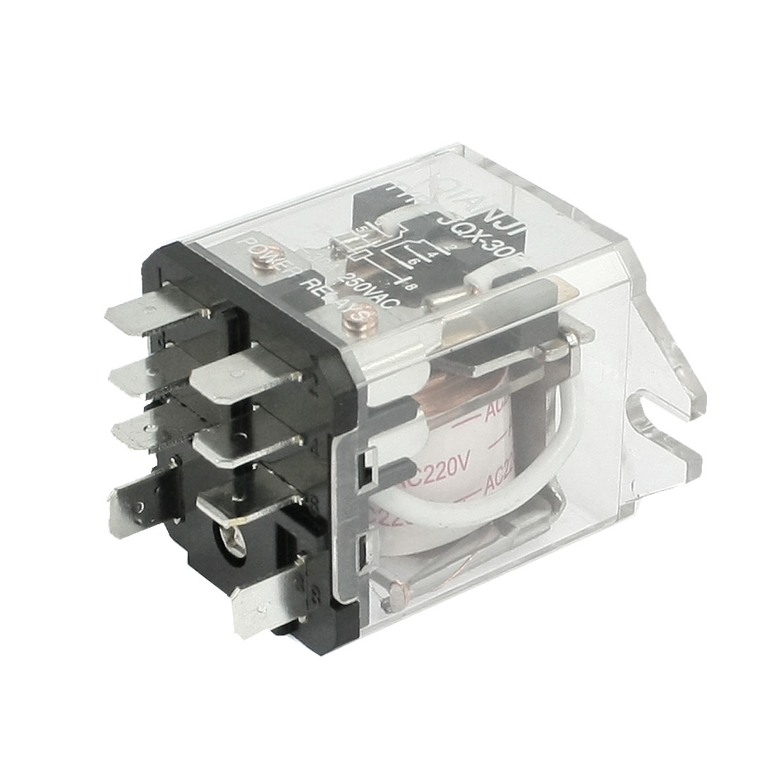 JQX-30F-2Z Coil Voltage AC 220V 8 Pin 30A Electronmagnetic Relay