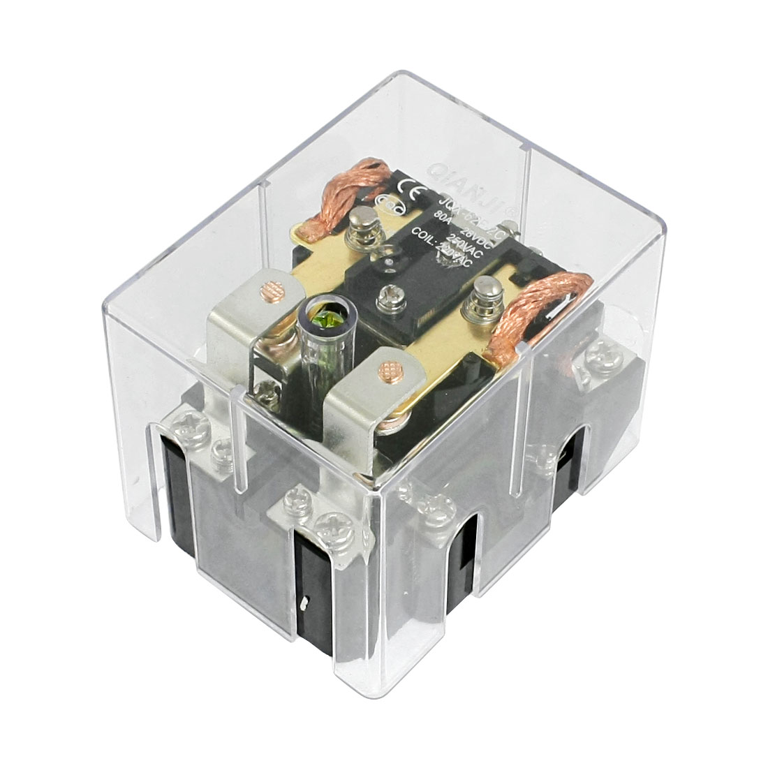 JQX-62F-2C Coil Voltage AC 220V 80A DPDT Electronmagnetic Relay