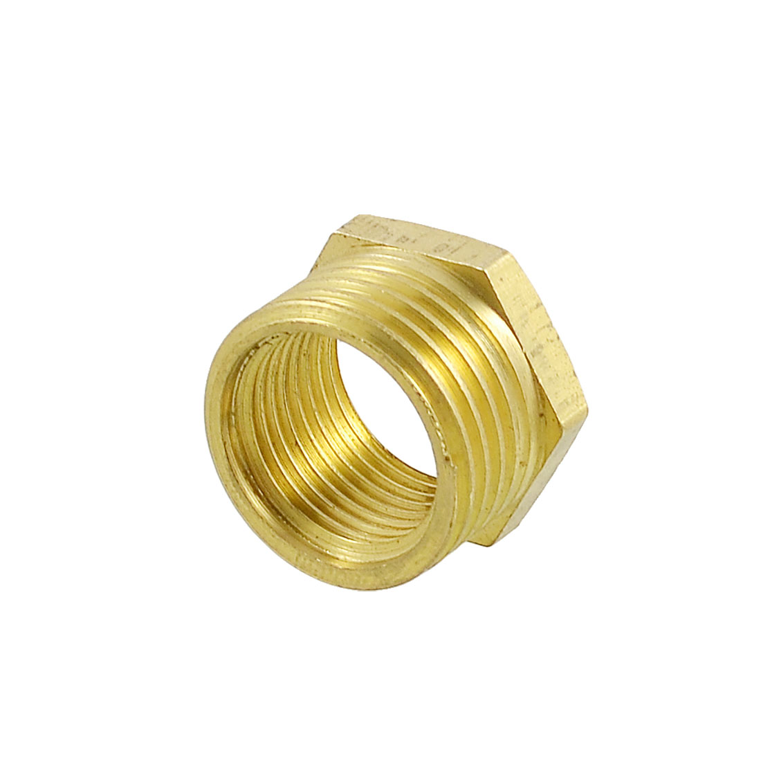 "Pipe Reducer 4/5"" x 3/5"" Thread Brass Hex Bushing Connector"