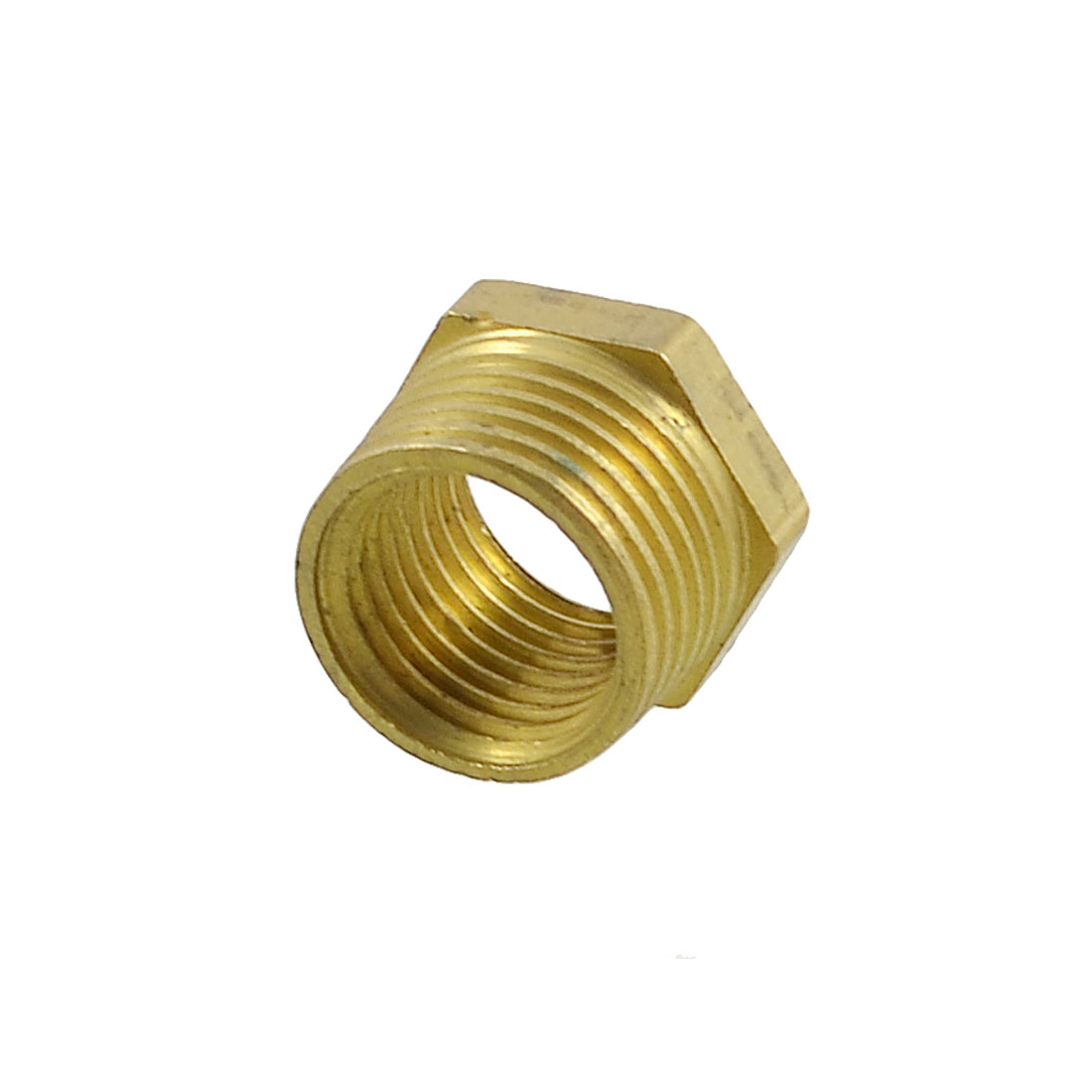 Pipe Reducer 3/8BSP x 1/4BSP Thread Brass Hex Bushing Connector