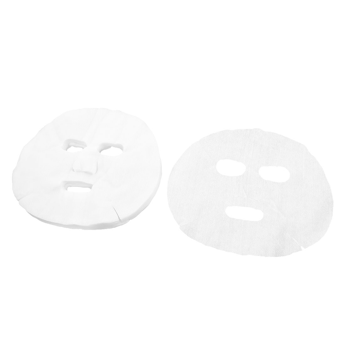 Women 50 Pcs White Makeup Enlarged Cotton Facial Mask Sheet