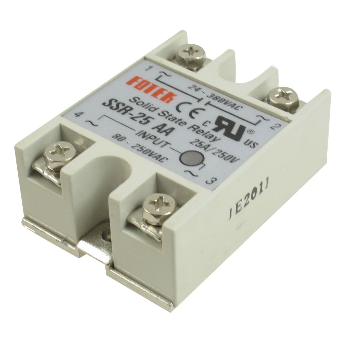 SSR-25AA Rectangular Single Phase Solid State Module Relay 25A