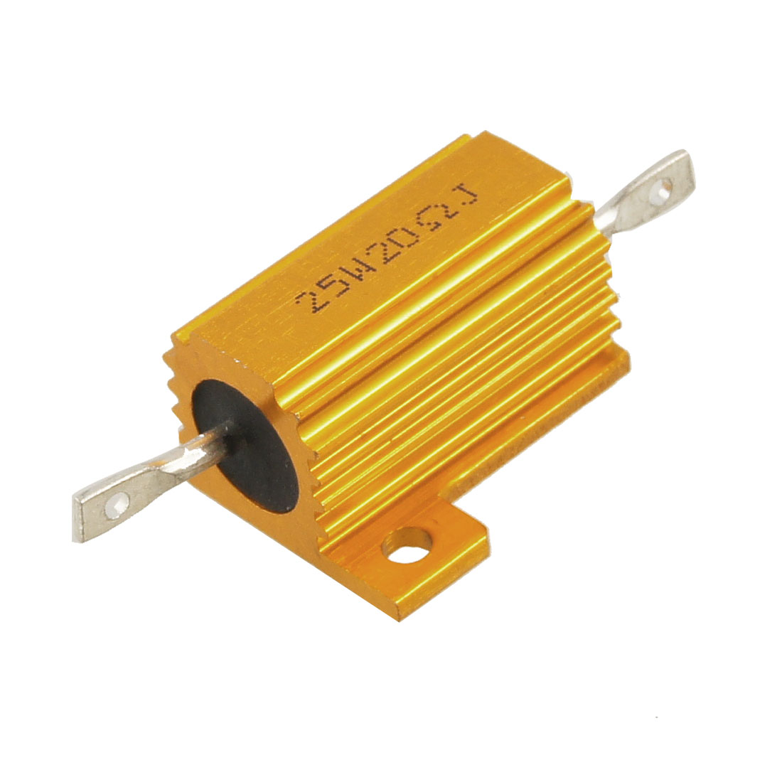 Gold Tone 25W 20 Ohm Chassis Mounted Aluminum Housed Resistor