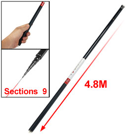 Carbon Fiber Telescopic 4.8M Long 9 Sections Fishing Pole Rod
