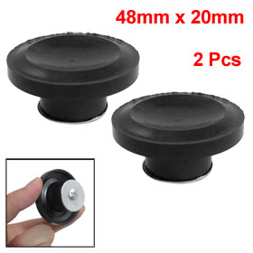 "2 Pcs 1.9"" Dia Black Plastic Pot Lid Handle Knobs"