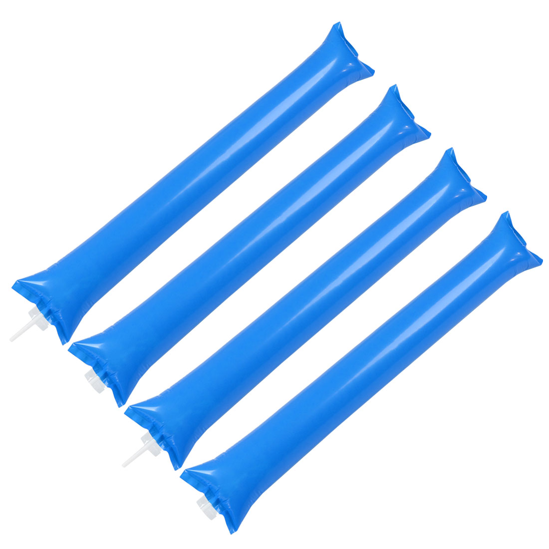 4 Pcs Blue Plastic Inflatable Sport Match Vocal Concert Cheer Balloons Stick