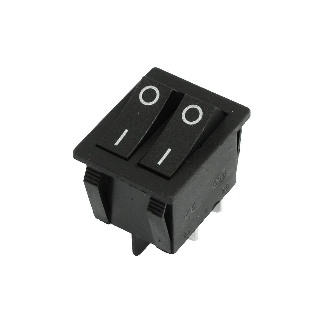 KCD4 DPST ON-OFF 4 Pin 15A AC 250V 20A AC 125V Rocker Boat Switch Black