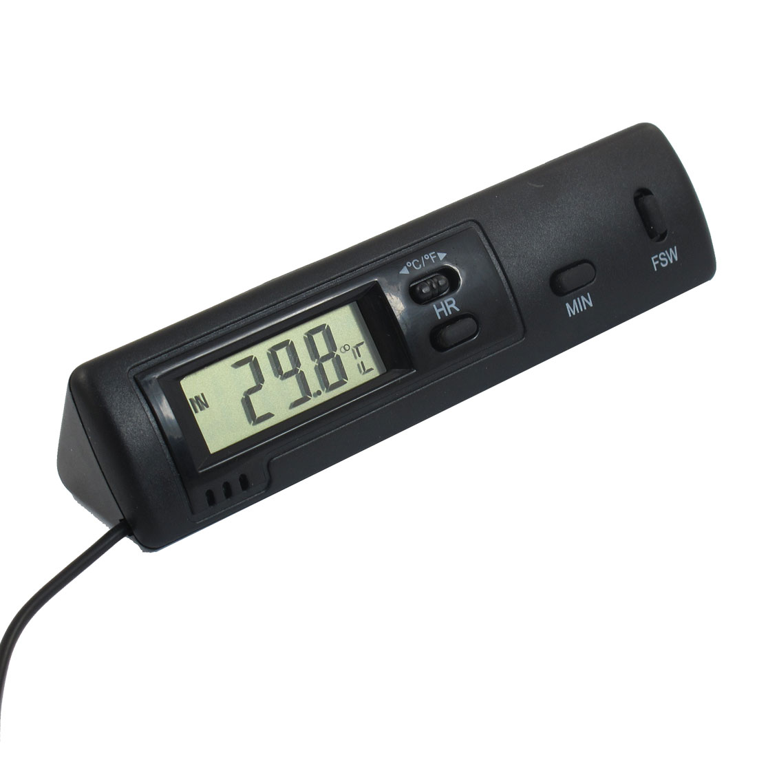 "LCD Screen Display Digital Thermometer Probe w 39.4"" Cable"