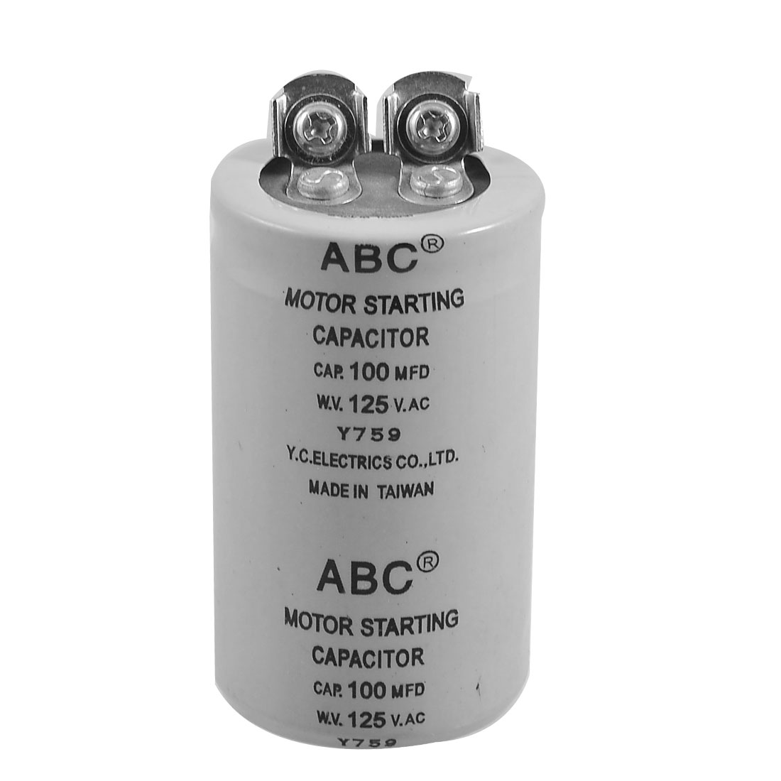 Cylinder 100MFD 125VAC Motor Starting Capacitor