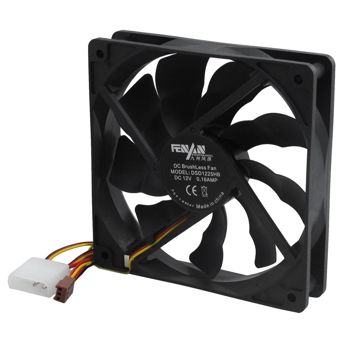 Noiseless Computer Desktop Cool Cooling Fan Heat Sink Black